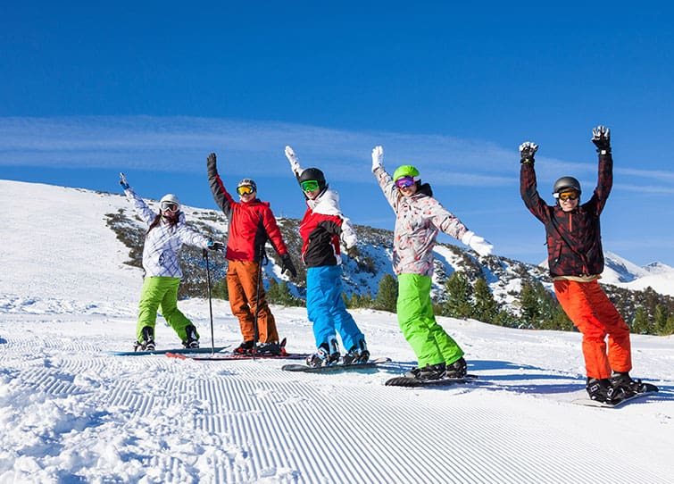 learn to ski snowboard